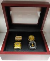Shaquille O'Neal - Championship 4 Ring Set With Wooden Box.. Lakers Heat