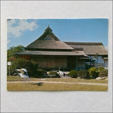 Cranes in the Garden Korakuen Postcard (P371)