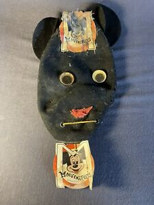 Mickey Mouse Club Mouseketeer Mask VINTAGE 1950s Walt Disney-Missing Nose