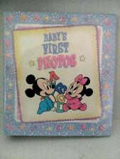Disney Baby's First Photos Disney Baby mickey minnie Vintage Album Gibson Rare