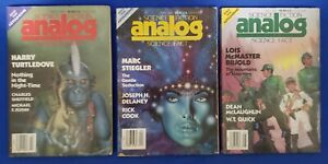 Analog Science Fiction Digest Magazine (1930) 3 Issues 1989 Mar Apr May FN/VF