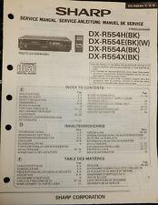 SHARP DX-R554H CD PLAYER MANUFACTURERS SERVICE MANUAL