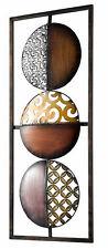 "große Wanddeko ""Kreise"" ca. 69/28 cm Metall braun   132323"