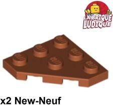 Plate 4 x 4 Cut Corner x2 LEGO 30503 @@ Wedge @@ WHITE @@ BLANC