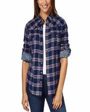 Jachs Girlfriend Ladies' Flannel Shirt /S/ NAVY/RED