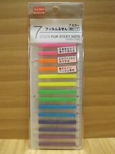 Extrafine Sticky Notes with Ruler, Translucent Fluorescent 7 Colors, 350 Counts