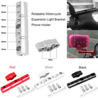 Motorcycle Rotatable Rearview Mirror Phone GPS Holder Extender Mount Bracket
