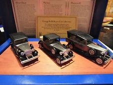 LLEDO VINTAGE ROLLS ROYCE CAR COLLECTION - ON WOODEN PLINTH -  LIMTED EDITION #6