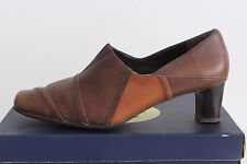 Women's K by CLARKS Ladies Brown Leather Shoes Size UK 6, US 8, EU 39
