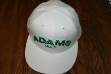 Golf Hat/Cap ADAMS NEW ERA 59/50 FITTED SUPER S LOGO SIZE 7  White/Green logo