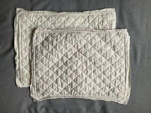 Pottery Barn Linen Pillow Cover Natural Oatmeal Color Standard 20 X 26