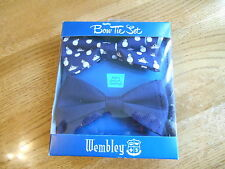 Wembley Spiffy 2-Pack Gift Box Polyester Navy Novelty Bow Ties SR$45 NEW