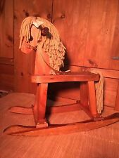 Antique Or Vintage Child Wooden Rocking Horse