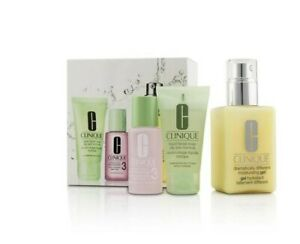 Clinique™ 3-Step Skin Care System Facial Soap Oily Skin Formula Lotion Gel Set