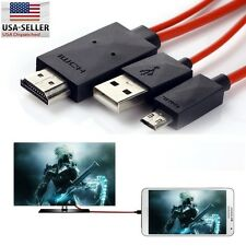 MHL Micro USB to HDMI 1080P HD TV Cable Adapter Samsung Galaxy S5 S4 S3 Note 3 2