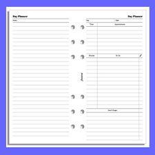 Filofax Personal Undated Day Diary Planner Insert Refill 131319