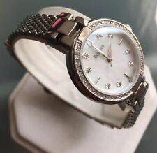 Ladies Genuine Bulova Diamonds 96R177 Mop Designer Watch Steel Mesh RRP£289