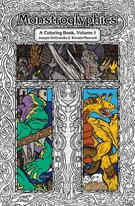 A Coloring Book of Fantasy Creatures, Animals, & Monsters: Monstroglyphics Vol 1