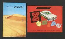 1950's Ford Zodiac Sales Brochure LOT England Import Car Vintage Color Features
