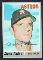 Doug Rader #355 signed autograph auto 1970 Topps Baseball Trading Card