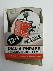 Douglas HOMS Company 12 in 1 Dial-A-Phrase Collection Stamp