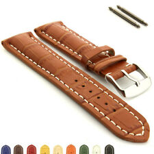 Men's Genuine Leather Watch Strap Band VIP Alligator Grain 18mm 20mm 22mm 24mm