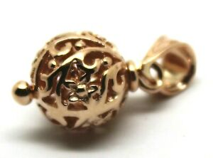 Genuine 9ct Yellow Gold or White Gold or Rose Gold 10mm Filigree Ball Pendant