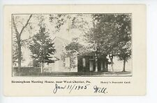 Birmingham Meeting House near WEST CHESTER PA Rare Antique UDB ca. 1905