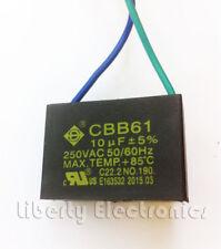 NEW CBB61 FAN CAPACITOR 10 uF ± 5% 250 VAC