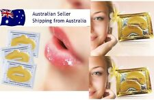 5pairs GOLD Collagen Crystal Eye Mask+ 5 pcs gold collagen lip mask anti aging
