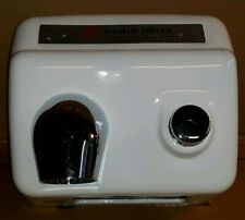 World Dryer A-5 Steel Fixed Nozzle Push Button Hand Dryer 115V Bathroom. used