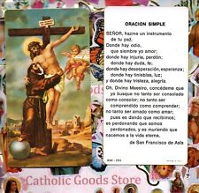 San Francisco de Asis - Oracion Simple  - Spanish - Paperstock Holy Card