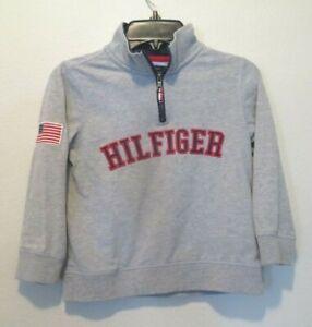Tommy Hilfiger Boys Size 5 Gray Long Sleeve 1/4 Zip Pullover Sweatshirt