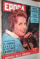 EPOCA 23 Marzo 1958 Dominique Claudel Zucov Raf Vallone Anna Frank Onassis di e