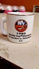 NHL STANLEY CUP CRAZY MINI MUG NEW YORK ISLANDERS 1980 CHAMPS W/OPPONENT &SCORE