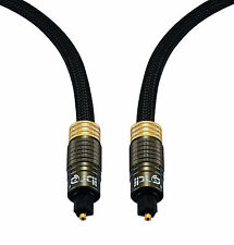 Ibra ® de 1.5 M muzil Oro Cable Óptico Digital-Apto Para Ps3, Sky, Hd, Av Amperios