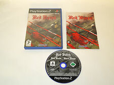 RED BARON complete in box with manual PS2 Playstation PAL game