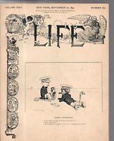 1894 Life September 20-Boston fines men for playing golf on Sunday;Tillman of SC