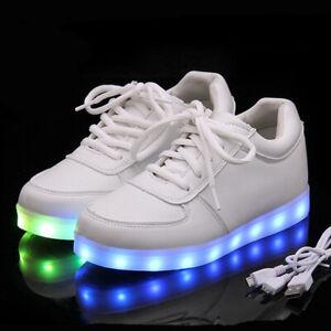Unisex USB Light Up Shoes Sports LED Luminous Shoes Sneakers EUR 35-46