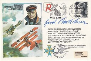 HASP1d Manfred  Von Richthofen ( Red Baron ) Signed by General  G. Barkhorn