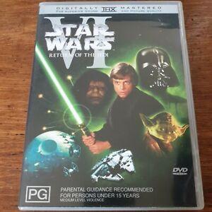 Star Wars Return of the Jedi VI DVD R4 Like New! FREE POST