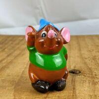 "🐭 Vintage Walt Disney Japan Ceramic Cinderella Gus Mouse Figurine 3"""
