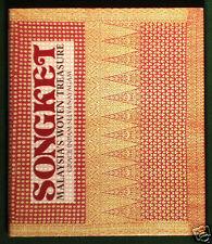 BOOK Songket Malaysia Textile silk ikat sarong weaving Asian costume design art