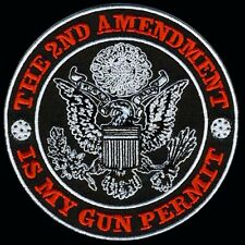 HOMELAND SECURITY 2ND AMENDMENT 4 inch GUN PERMIT PATCH