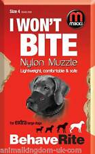 Mikki Nylon Fabric Muzzle For Dogs Size 4