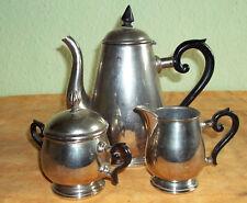 Kaffeekern-3-teilig Nickel-Vernickelt mit Holzgriff Prägung 2 - 3