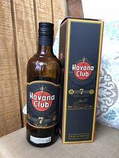 """Havana club rum Añejo 7 Year """"7 Años"""" 70 Cl 700 ml bottle (EMPTY) Cuba Cuban"""