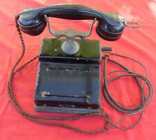 altes Kurbeltelefon - Tischfernsprecher - Hersteller MK - gepunzt 1928