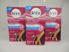 3 VEET LEGS & BODY 3-IN-1 READY TO USE WAX STRIP KIT 40 EACH EXP: 8/20+ AP 4408