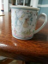 Precious Moments 2.5 Inch Vintage 1991 Mug Joy On Arrival